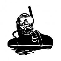Scuba Diver Decal Sticker 01830