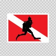 Flag Diver Scuba 01854