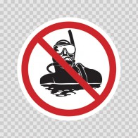 No Scuba Dive Sign 01863