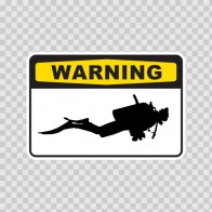 Warning Scuba Diver 01875