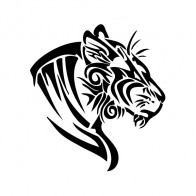 Tiger Tribal Head 01977