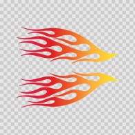 Pair Of Flames Red Orange Yellow 02255