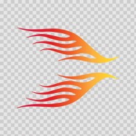 Pair Of Stripes Red Orange Yellow 02273