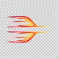 Pair Of Stripes Red Orange Yellow 02275