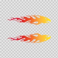 Pair Of Eagle Flames Red Orange Yellow 02279