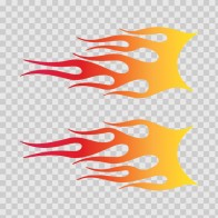 Pair Of Flames Red Orange Yellow 02290