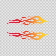 Pair Of Flames Red Orange Yellow 02303