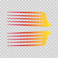 Pair Of Racing Stripes Red Orange Yellow 02309