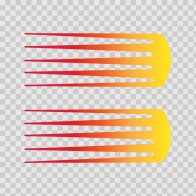 Pair Of Racing Stripes Red Orange Yellow 02313
