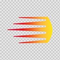 Racing Stripe Red Orange Yellow 02314