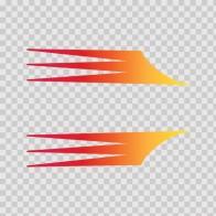 Pair Of Racing Stripes Red Orange Yellow 02321