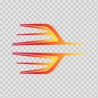 Pair Of Racing Stripes Red Orange Yellow 02323