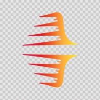 Pair Of Racing Stripes Red Orange Yellow 02324