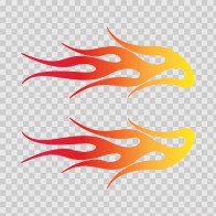 Pair Of Racing Flames Red Orange Yellow 02328