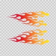 Pair Of Racing Flames Red Orange Yellow 02329