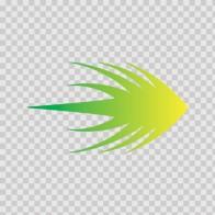 Racing Stripe Yellow Green 02373