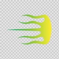 Racing Stripe Yellow Green 02375