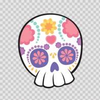 Flower Power Skull 02407