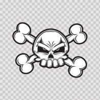 Angry Crossbones Skull 02410
