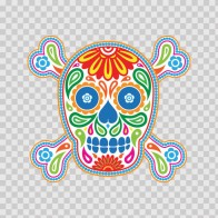 Flower Power Skull 02412