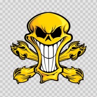 Cartoon Yellow Skull 02417