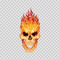 Flaming Skull 02433