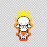 Skull Smile Flames 02475