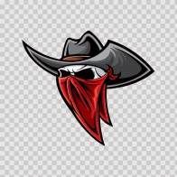 Skull Cowboy Robber 02481