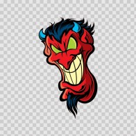 Skull Evil Red Devil Smile 02488