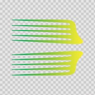 Pair Of Racing Stripes Yellow Green 02625