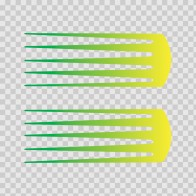 Pair Of Racing Stripes Yellow Green 02629