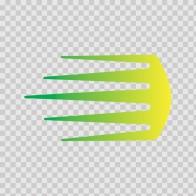 Racing Stripe Yellow Green 02630