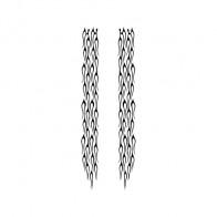 Pair Of Long Flames Pattern 03004