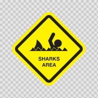 Sharks Area Sign 03187