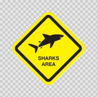 Sharks Area Sign 03188