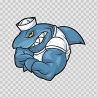 Shark Bodybuilder Sailor 03198