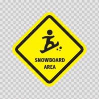 Snowboard Area Sign 03218