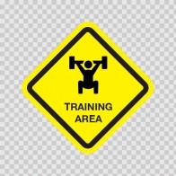 Training Area Sign 03221