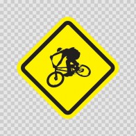 Bmx Bicycle Area Sign 03263