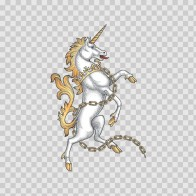 Horse Unicorn Heraldic 03284