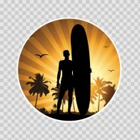 Surfer Sunset 03349