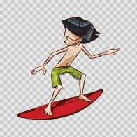 Cool Surfer Cartoon 03374