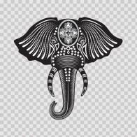 Ancient Elephant Décor 03380