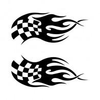 Racing Flaming Flag 03563