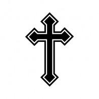Cross Christian Symbol Trinity Black With Chrome Mirror Details 03659