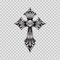 Royal Cross Chrome Mirror With Black Details 03683