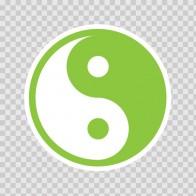 Martial Arts Yin And Yang Green 03815