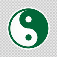 Martial Arts Yin And Yang Dark Green 03816