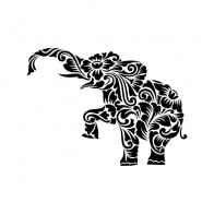 Floral Tribal Elephant 04465