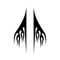 Pair Of Vinyl Flames 04523